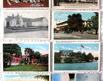 Vintage Postcard Lot EARLY CENTURY Souvenir Nostalgic Nostalgic panorama vista post card Print INew York State & Long Island