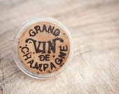 Champagne Cork Cocktail Ring Upcycled Eco Statement Resin ring Wine French Rustic Country