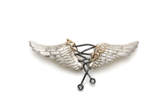 Angel Brooch (Comes with Climbing Man Pin Gift )