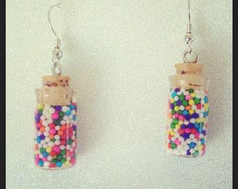 Sprinkle Bottle Earrings (Surgical Steel)