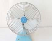 Shabby Chic Desk Fan Robins Egg Blue