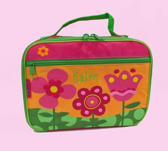 Personalized Child's Stephen Joseph FLOWERS Lunchbox