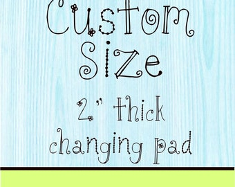 Minky Changing Pad Cover 2 inch Custom Size