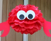 Crab tissue paper pom pom kit  under the sea ocean water mermaid decoration