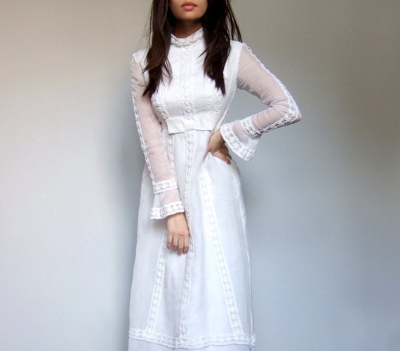 long sleeve 70s dress images