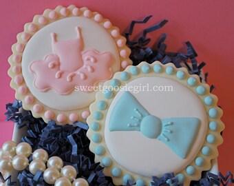 Gender Reveal Decorated Sugar Cookies (12)