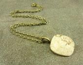 Creamy Jasper Gemstone Necklace Antiqued Brass