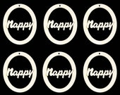 Nappy Word in OVAL Natural Craft Wood Cutout 588