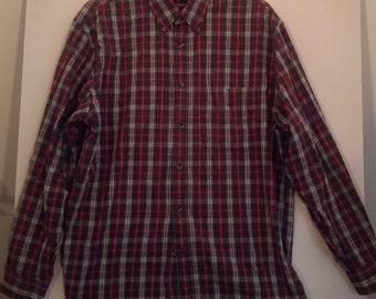 plaid shirt men 90s grunge large tartan boho punk medium l bondage