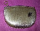unique vintage little change purse genuine seal fur