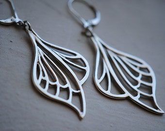 Art Nouveau Earrings, Art Nouveau Jewelry, Dragonfly Earrings, Butterfly Wings, LIBELLULE EARRINGS.
