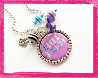 BEST FRIENDS FOREVER - Personalized Necklace - bff Jewelry - Sister Jewelry #b47