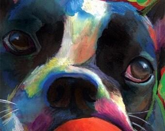 Boston Terrier - Print of Original Painting