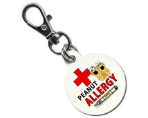 Peanut Allergy Epipen Auto-Injector -  Design - Medical Alert - Button Zipper Pull Shoe Tags Key Chain Lobster Clasp Tag  You Choose