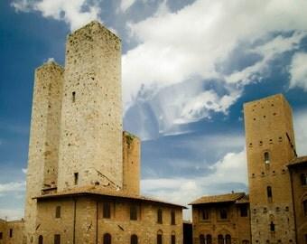 Italy Photography San Gimignano Photo Italian Village Photograph Towers Architecture Town  ita85