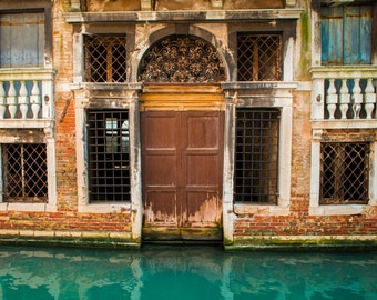 Venice Photography, Venetian House Italy Photograph Canal Photo Neutral Colors Brown Tan Wall Art Home Decor ven54