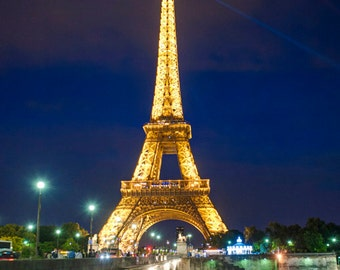Eiffel Tower Photo, Paris Photography France Night Blue Photograph Dreamy Wall Art Home Decor Fine Art Print par77