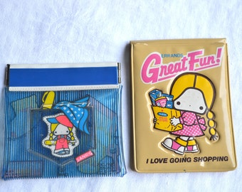Patty & Jimmy Wallets - Vintage Sanrio 1976 - Love to Go Shopping - P and J