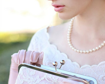 French Chantilly Lace Clutch,Bridal Accessories,Wedding Clutch,Bridal Clutch,Bags And Purses