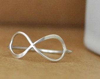 handmade sterling silver ring INFINITY RING made to order
