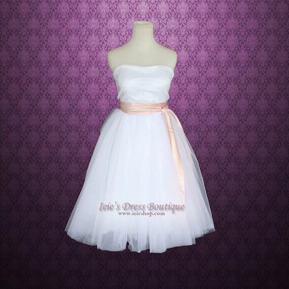 Ballerina Tulle Tutu Short Knee Length Destination Wedding By Ieie