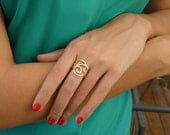 Gold Rings - Unique Gold Ring - Handmade - 18k Gold Plated