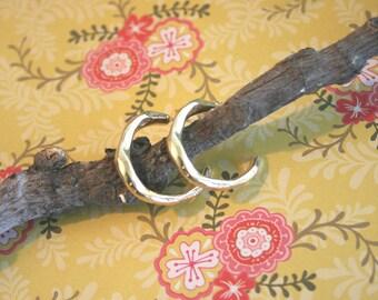 Small Hoop Earrings - 18k Gold Plated Hoops - Tiny Hoop Earrings - Hammered Hoops | Handcrafted Jewelry