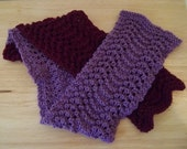 Two-Colored Knitted Scarf