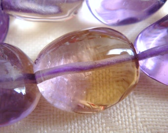 5. Ametrine 12x14mm Smooth Nugget Shape 16 Inches Strand Stones Beads