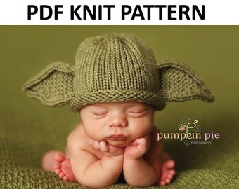 Yoda Hat Pattern, Knit