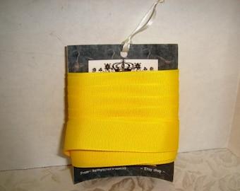 Grosgrain Ribbon/ Lemon Color /3 & 1/2  yards/Craft Supplies*