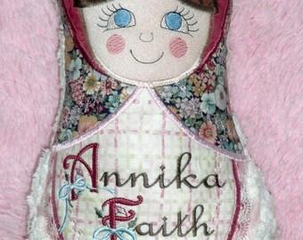 Matryoshka stuffed custom doll