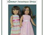 """PDF Pattern """"Summer Sweetness Dress""""   fits American Girl Doll designed by Donna Cotterman"""