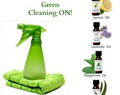 Set of 4 Essential Oils for Green Cleaning  Lemon Lavender Peppermint Eucalyptus