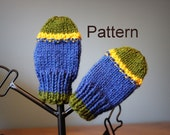 PATTERN Knit Baby Mittens  -  Instant Download