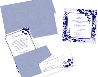 Blossoming Blooms Wedding Invitation Suite