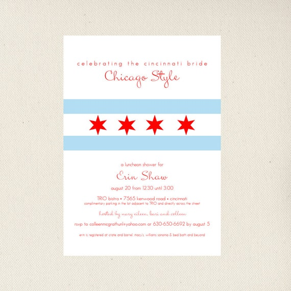 Chicago Bridal Shower Invitation