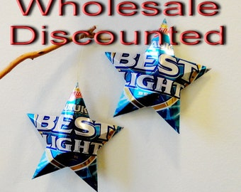 Mixed Bag Bargain, Wholesale Aluminum Can Stars Christmas Ornaments, Gift Topper, Upcycled Recycled