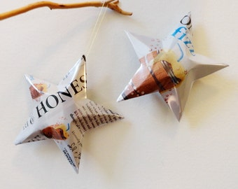 Honest Fizz Root Beer Stars, Ornaments,  Soda Can, Upcycled