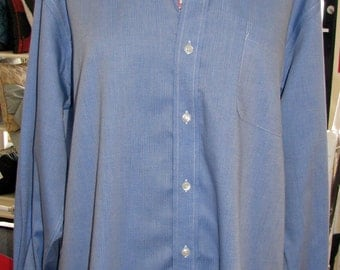 SALE - Long Sleeve Shirt featuring New London CT Toile (Pink & Navy Blue)