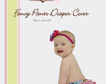Fancy Pants Diaper Cover Pattern  Sizes 3M to 3T Little Lizard King