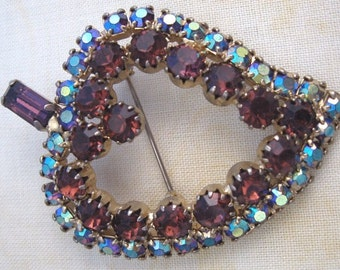 Rhinestone  Fruit Pin Juliana Style Vintage Brooch
