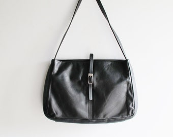 Agnis b voyage Black Leather Purse