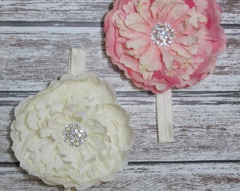 Premium Baby Flower Headband, Boutique 5 Inch Flower, You Pick Color