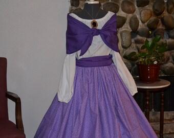 Ladies Prairie Civil War Colonial Tea Day Dress 4 pc Reenactment