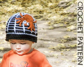 CROCHET PATTERN - Along Came a Spider Beanie