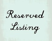 Reserved Listing for CLWeddingsandEvents