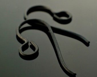 4 Pairs Handmade Perfect Curve Black Hypoallergenic Niobium Ear Wires - 100% Guarantee