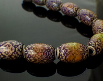2 - Oblong Mood Beads - Persian Beauty - 100% Guarantee