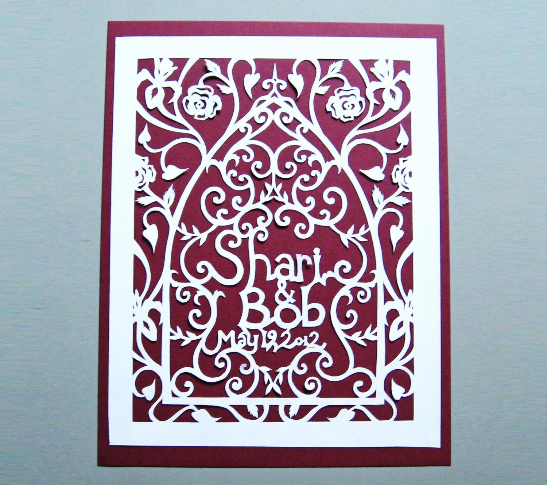 Wedding Gift Custom Paper Cut Art Anniversary Personalized